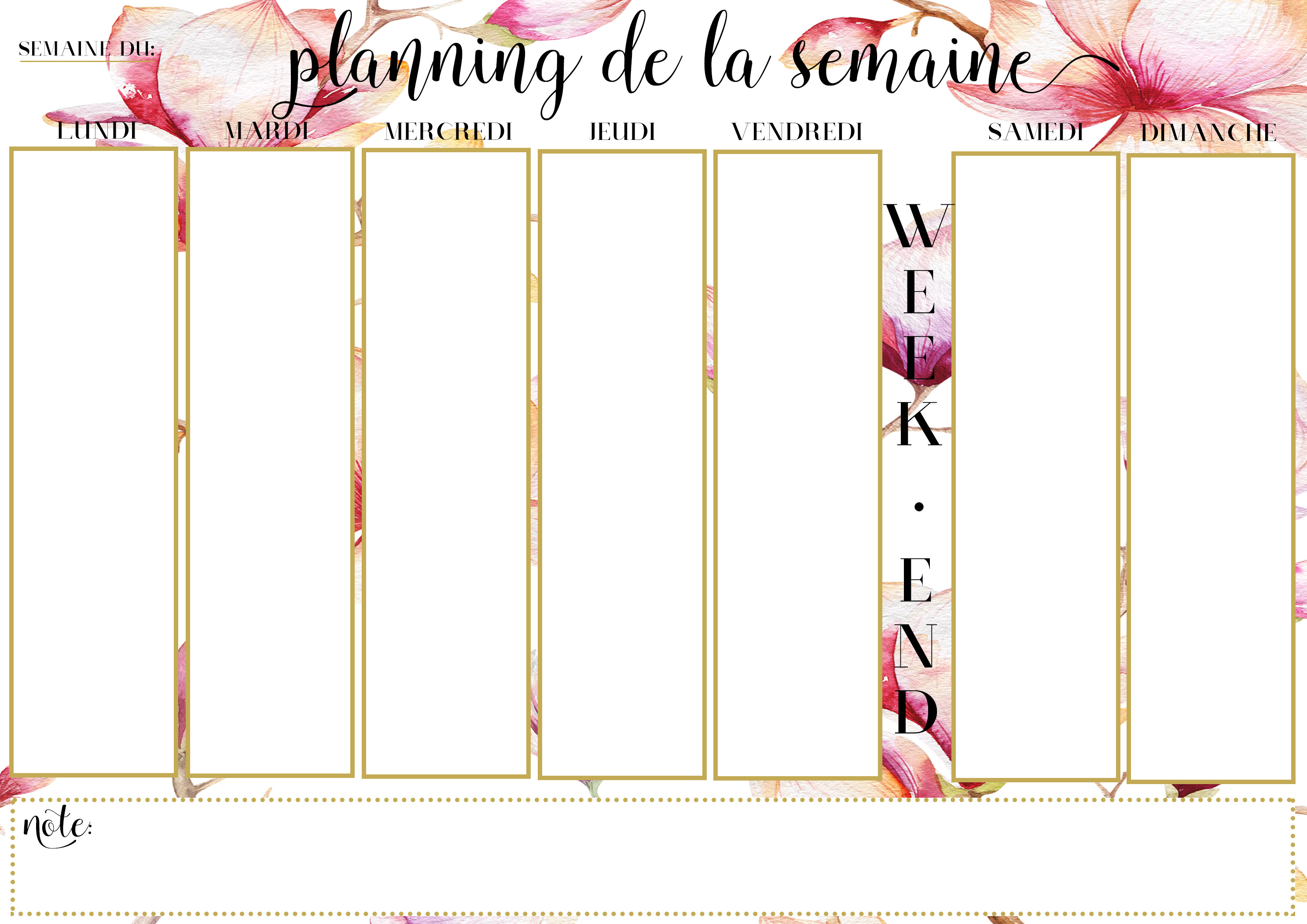 planning-semainier
