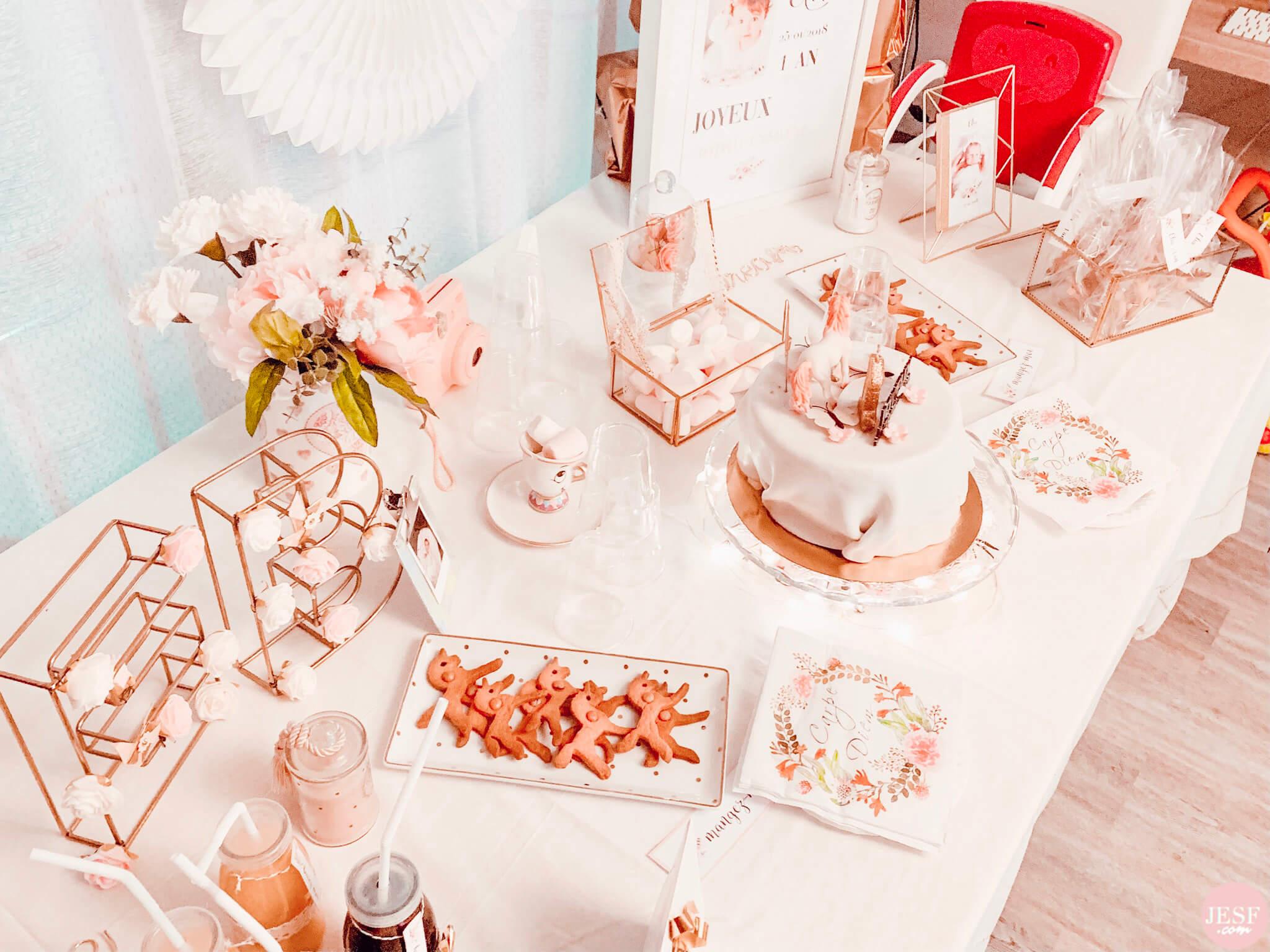 fête-anniversaire-sweet-table-petite-fille-1-an-girly-rose-ideés